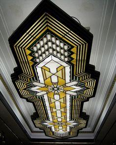 Ceiling detail within Jackson Piano Bldg. (Coronado Th. Art Deco Design, Glass Design, Design Room, Interior Design, Modern Interior, Design Design, House Design, Decoration, Art Decor