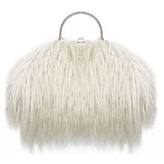 Preowned Fine And Rare 1960s Xl Mongolian Lamb Fur Purse Bag ($4,306) ❤ liked on Polyvore featuring bags, handbags, purses, bolsas, beige, top handle bags, pre owned handbags, white hand bags, man bag and pre owned purses