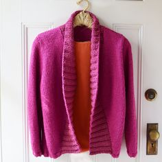 A maddy laine knitting pattern that will give you an easy-to-knit cardigan to shrug around your shoulders. Shrug Knitting Pattern, Knit Cardigan Pattern, Easy Knitting Patterns, Baby Knitting, Pants Pattern, I Cord, Metallic Yarn, Dress Gloves, Yarn Brands