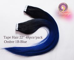 OMBRE COLOR:Gradient From Dark To Blue