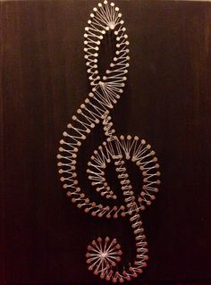 treble clef string art, would also like to do a literary themed one.