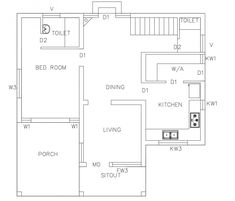 Searching for Free House plan layout 1200 sq ft 3 Bedroom 3 Bath ? Then here is 3 Bedroom floor plan layout for you. Free House plan l. Low Cost House Plans, House Plans Uk, Bungalow House Plans, 4 Bedroom House Designs, House Plans 3 Bedroom, Indian Home Design, Kerala House Design, Latest House Designs, Cool House Designs