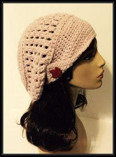Crocheted Newsboy Slouchy Beanie!  Ready to Ship! by ItsNotWeird on Etsy