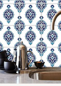 Removable Water-Activated Wallpaper Persian Islamic Turkish Indian Moroccan