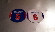 Kristaps Porzingis #6 New York Knicks Magnets Set of 2 #NewYorkKnicks