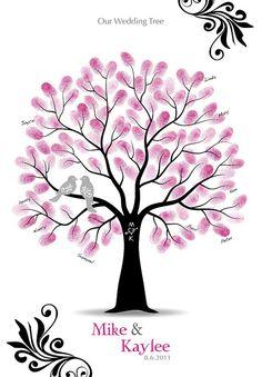 Fingerabdruck Baum Vorlage Herz Stamm Drucken Gratis Basteln