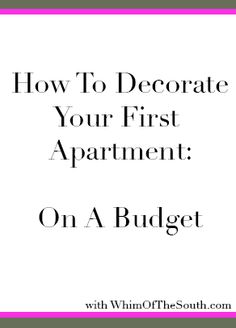 Decorating Your First Apartment [Guest Post]