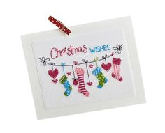 Send your friends some extra-special cards this Christmas with Angela Poole's string-style designs
