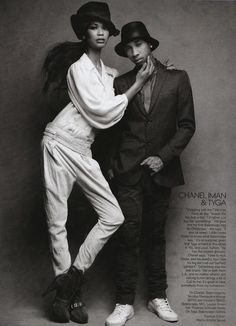 US VOGUE MAY 2009 Meet the Boyfriends Ph: Patrick Demarchelier Chanel Iman & Tyga