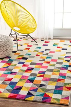 AmazonSmile: nuLOOM Contemporary Geometric Triangle Mosaic Area Rugs, 5' x 8', Multicolor: Kitchen & Dining