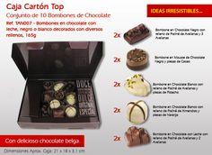 ¡Cada tentación del mejor chocolate belga, el caramelo más original! Chocolate Blanco, Relleno, Popcorn Maker, Best Chocolates, Chocolate Candies, Cocoa, Bonbon, Candy, Originals