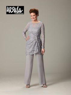 e999ab71db Ursula 43177 Plus Size Lace Mothers Wedding Pant Suit
