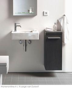 Wastafelmeubel badkamer toilet bathroom pinterest - Klein badkamer model ...