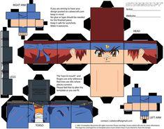 Gingka Beyblade Cubee 1 of 2 by etchings13