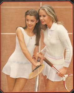 1970's Tennis Clothing Leaflet to Crochet and by betrunkepenguin