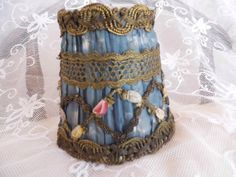 antique French silk lampshade