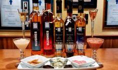 Icewine, Icewine Slushies and Food Pairings Ice Houses, Slushies, Wine Making, Wines, Alcoholic Drinks, Frozen, Learning, Bottle, Glass