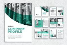 Corporate Company Profile Template InDesign INDD - 12pp Corporate Profile, Business Profile, Template Brochure, Layout Template, Company Profile Design Templates, Indesign Free, Adobe Indesign, Envato Elements, Design Presentation