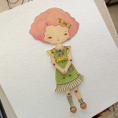 Paper Dolll  Raspberry  Instant Download by Gingermelon on Etsy