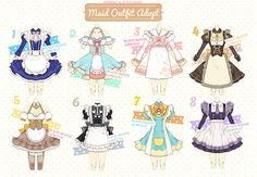 [CLOSED] Maid Outfit Adoptable #11 by Black-Quose.deviantart.com on @DeviantArt