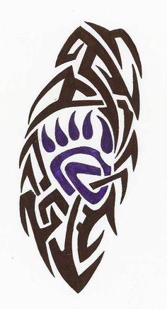 Tribal Bear Claw Tattoo : Tribal Bear Claw Tattoo 245