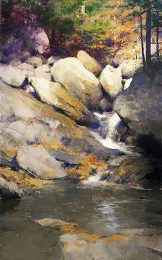 Available Paintings — Mark Boedges Landscape Artwork, Watercolor Landscape, Abstract Landscape, Watercolor Paintings, Acrylic Painting Canvas, Waterfall Paintings, Scenery Paintings, Your Paintings, Original Paintings