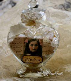 "Altered Bottle ""Wisdom"" by Sugar Lump Studios, via Flickr"