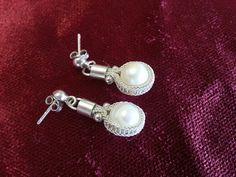 Handmade silver pearl earrings Kazaziye