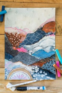 Mountain Escape Laura Horn Art - Painting Ideas On Canvas Art Inspo, Kunst Inspo, Painting Inspiration, Journal Inspiration, Art Design, Medium Art, Moleskine, Art Lessons, Painting & Drawing