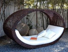 This outdoor daybed would be the perfect spot to read a book!