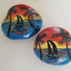 Newly listed in the shop. Sea rocks collected on the shores of San Diego beaches, and hand painted. These make excellent paper weights and are a great gift for any beach lover! Seashell Painting, Pebble Painting, Rock Painting, Painted Rocks, Hand Painted, San Diego Beach, Painted Shells, Mermaid Art, Stone Art