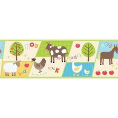 Fine Decor Farm Border - Multi at Homebase -- Be inspired and make your house a home. Buy now.