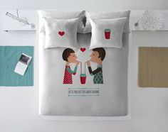 #valentines #couple #love #gift #bedroom #bed #inspirations #valentines2017 #valentinesgift #homedecoration #homedesign