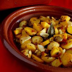 Arabic Food Recipes: Spicy potato tagine with olives recipe
