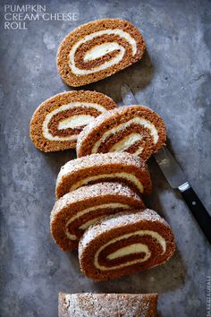 Festive Pumpkin-Cream Cheese Roll