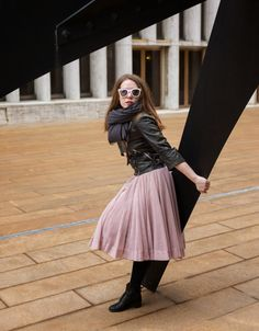 Ruthie Darling: Tutu Cute tutu skirt, leather jacket, vintage boots