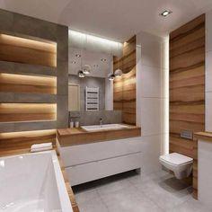 Bathroom Tile: 60 Inspirations to See Before Choosing Your Bathroom - Home Fashion Trend Wet Room Bathroom, Modern Bathroom Tile, Bathroom Design Luxury, Bathroom Design Small, Contemporary Bathrooms, Bathroom Assessories, Bathroom Styling, House Design, Jim Halpert