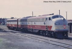 www.trainweb.org oldtimetrains photos cpr_diesel ottawa.htm Canadian Pacific Railway, Holiday Train, Cats 101, Train Engines, Train Tracks, Ottawa, Locomotive, Diesel, The Past