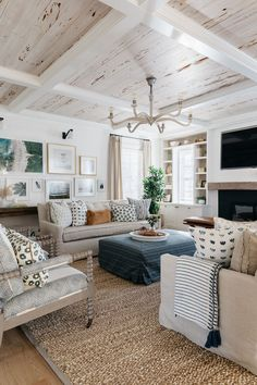 living room living room living room living room room curtains room theater room vs family room rugs for living room Home Living Room, Living Room Designs, Living Room Decor, Living Room And Kitchen Together, Living Room Inspiration, Home Decor Inspiration, Decor Ideas, Room Ideas, Style At Home