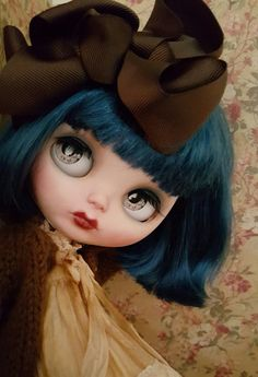 NEW ooak Custom Blythe doll art doll big eyes doll collector doll photography BJD azone posable vintage look 10%off promo code BDSHOP2016
