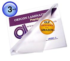 #Accessories 300 #Letter size #Laminating Pouches 3 Mil 9 x 11-1/2 inch with top 15% world high clarity rated clear glossy finish protects and enhances colors. 3 ...