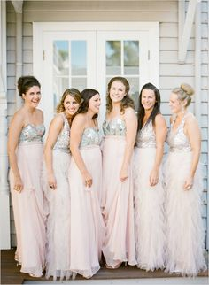 long and fancy bridesmaid dresses