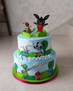 Bing Cake, Cake Shop, Birthday Cake, Baking, Desserts, Pink, Cakes, Food, Party
