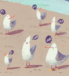 Seagulls!! on Behance