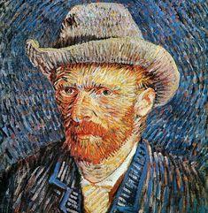 Self Portrait in Grey Felt Hat 1887 Vincent van Gogh Dutch) Oil on canvas van Gogh Museum Amsterdam Netherlands Canvas Art - Vincent van Gogh x Van Gogh Pinturas, Van Gogh Portraits, Van Gogh Self Portrait, Vincent Van Gogh, Van Gogh Museum, Henri Matisse, Van Gogh Art, Van Gogh Paintings, Free Art Prints