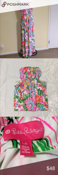 "Lilly Pulitzer dress Great condition *no stains or tears *length approx 50"" Lilly Pulitzer for Target Dresses Strapless"