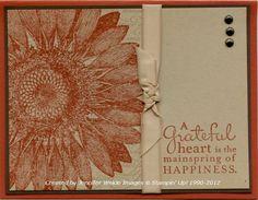 Sunflower Stamper: Cajun Double Back Sunflower