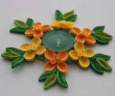 This Diwali lighten up your house with creativity! HAPPY DIWALI #craftardour #quillingart #tealight #tealightholder #diwali #tealightholder #decor #rangoli #handmade #festivespirit #diya #diwali2016 Quilling Dolls, 3d Quilling, Quilling Tutorial, Quilling Designs, Quilled Paper Art, Quilling Paper Craft, Paper Crafts, Candle Stand, Tealight Candle Holders