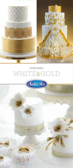 White & gold, light & romantic --how could you possibly go wrong?