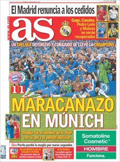 Prensa deportiva del 20 de mayo 2012 – Chelsea Campeón de la Champions League (2011 – 2012)